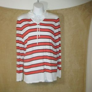 Talbot hoody shirt woman long sleeve size Lp
